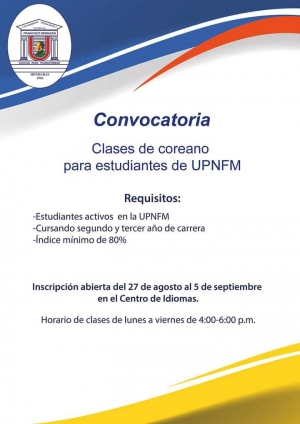 Korean Classes For Students of the UPNFM